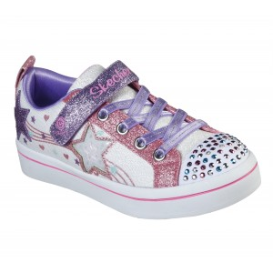 Sneakers Skechers Twi Lites Star Bright White Pink