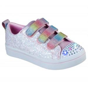 Sneakers Skechers Twi Lites Glitter Glitz White