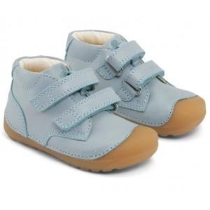 Pantofi Bundgaard BG101068 Petit Velcro Jeans Mint