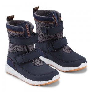 Cizme de zăpadă Bundgaard BG303105 Desi Navy Orange