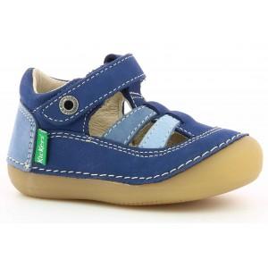 Sandale Kickers Sushy Bleu Tricolore