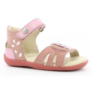 Sandale Kickers Bihetta Rose Clair Argent