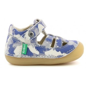 Sandale Kickers Sushy Bleu Camouflage
