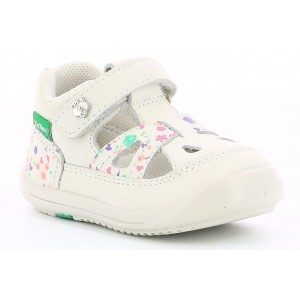 Sandale Kickers Kiki White Blossom