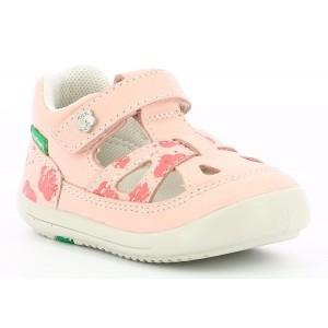 Sandale Kickers Kiki Pink Flower