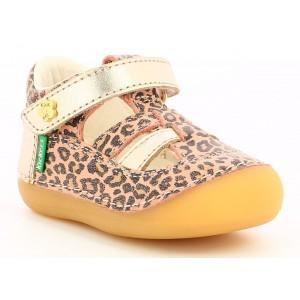 Sandale Kickers Sushy Beige Leopard