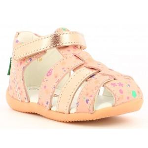 Sandale Kickers Bigflo 2 Pink Metallised