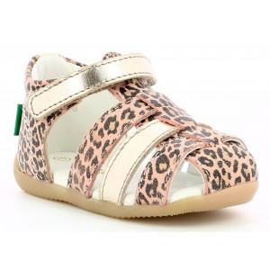 Sandale Kickers Bigflo 2 Beige Leopard