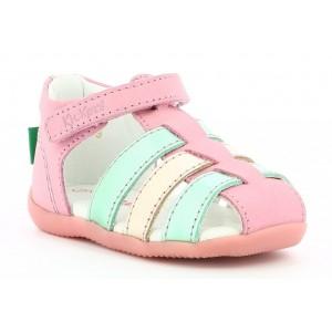 Sandale Kickers Bigflo 2 Pink Gold Blue