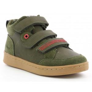 Pantofi Kickers Bilbon Velc Kaki