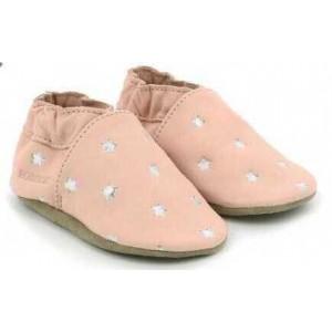Pantofi Robeez Dressy Rose Etoiles Argent