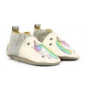 Pantofi Robeez Cut Unicorn Beige Metal