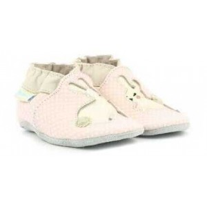 Pantofi Robeez Rabbit Baby Rose Clair