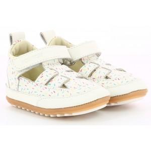 Sandale Robeez Miniz Blanc Multico