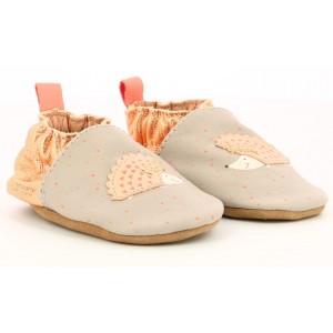 Pantofi Robeez Pink Hedgehog Gris Clair Rose Clair