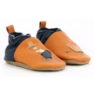 Pantofi Robeez Garden Bear Camel Marine