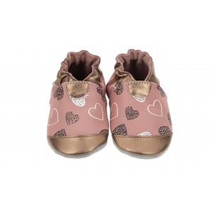Pantofi Robeez Hearts Mountain Rose Fonce