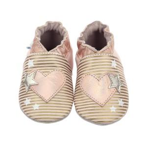 Pantofi Robeez Love Galaxy Rose Clair Or