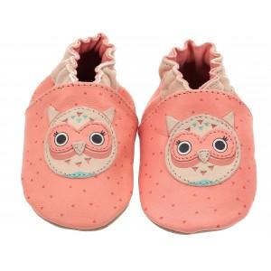 Pantofi Robeez Owl Then Corail Rose Clair