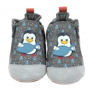 Pantofi Robeez Blue Pinguins Gris Fonce