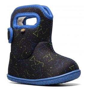 Cizme de zăpadă Bogs 72738I-009 Baby Bogs Constellation Black Multi