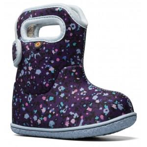 Cizme de zăpadă Bogs 72739I-540 Baby Bogs Little Textures Purple Multi