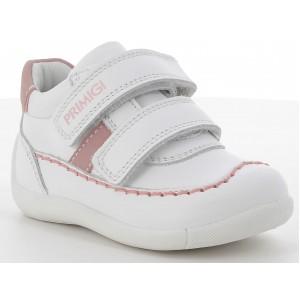 Pantofi Primigi 7369333 Nappa SI Nabuk Bianco Rosa