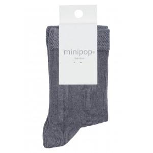 Sosete bambus MiniPop MP10 Grey