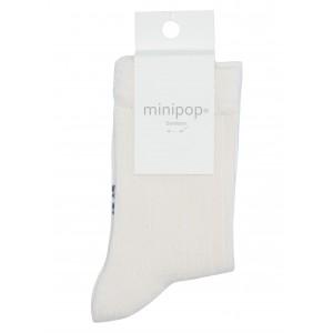 Sosete bambus MiniPop MP10 Off White