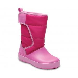 Cizme de zapada Crocs LodgePoint Snow Boot K Roz