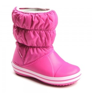 Cizme Crocs Winter Puff Boot Kids Fucsia