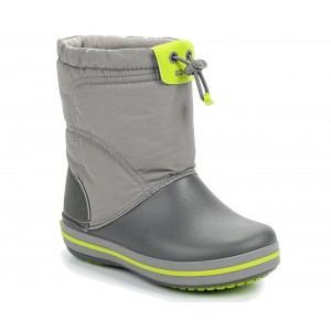 Cizme de zapada Crocs LodgePoint Snow Boot K Smoke