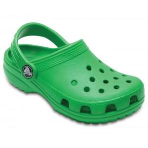 Șlapi Crocs Classic Clog K Grass Green