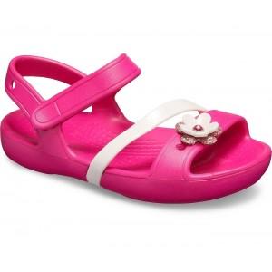 Sandale Crocs Lina Charm K Candy Pink