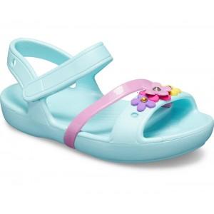 Sandale Crocs Lina Charm K Ice Blue