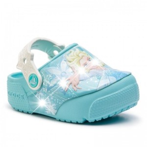Șlapi Crocs Frozen Elsa Lght Clg K Ice Blue