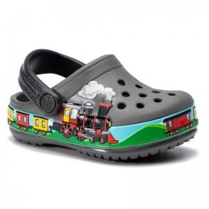 Șlapi Crocs Train Band Clog K Slate Grey