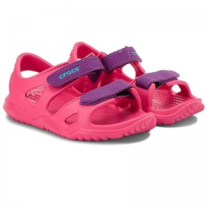Sandale Crocs Swiftwater River K Paradise Pink Amethyst