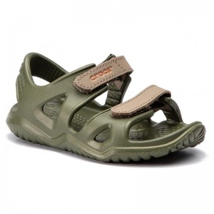 Sandale Crocs Swiftwater River K Army Green