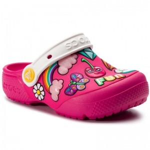 Șlapi Crocs FL Playful Patches Clg K Paradise Pink