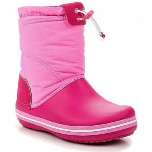 Cizme de zapada Crocs CB LodgePoint Boot K Candy Pink/Party Pink