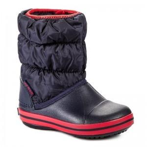Cizme de zapada Crocs Winter Puff Boot Kids Navy Red