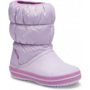 Cizme de zapada Crocs Winter Puff Boot Kids Lavender