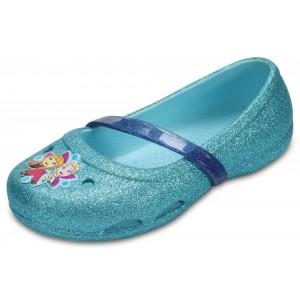 Sandale Crocs Lina Frozen Flat K Ice Blue-4O9