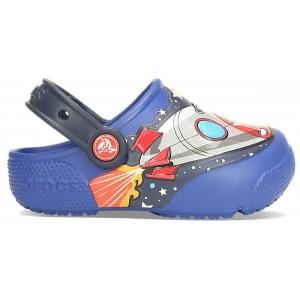 Șlapi Crocs FL SpaceExp Lights Clg K Blue Jean