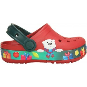 Șlapi Crocs Fun Lab Holiday Lights Clog K Pepper White