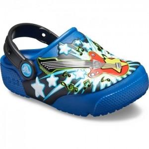 Șlapi Crocs Fan Lab Guitar Lights Clog K Blue Jean