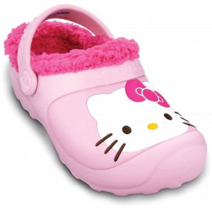 Șlapi Crocs Hello Kitty Lnd Custom Clog EU Bubblegum-Fuchsia