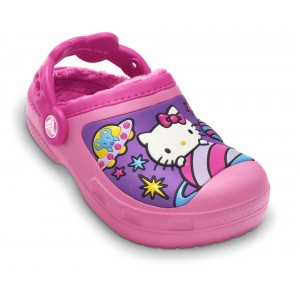 Șlapi Crocs Hello Kitty Space Advnture Lnd Clog Pink Lemonade-Fuchsia