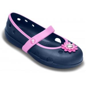 Sandale Crocs Keeley Petal Charm Flat PS Navy-Carnation